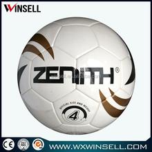 stock indoor (pvc tpu neoprene)promotion/official soccer ball football manufacture