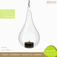 Wholesale Glassware Christmas Hurricane Candle Holder