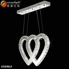Comedor sala de colgante deiluminación de la lámpara moderna, lámpara de araña de cristal con om9015