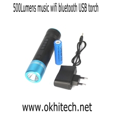 USB flashlight for music,phone,photo,bluetooth speaker torch light with 5years' warranty