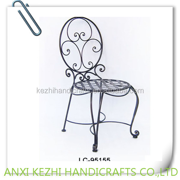Antique wrought iron dining chair buy dining chair iron - Sillas en hierro forjado ...