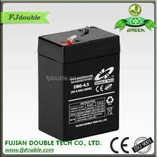 ABS plastic cover high quality cheap 6v 4.5ah charging batterys ups