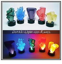 DotA 2 light up rune Sculptures toys,Custom 3d plastic toys , Plastic toys manufactures