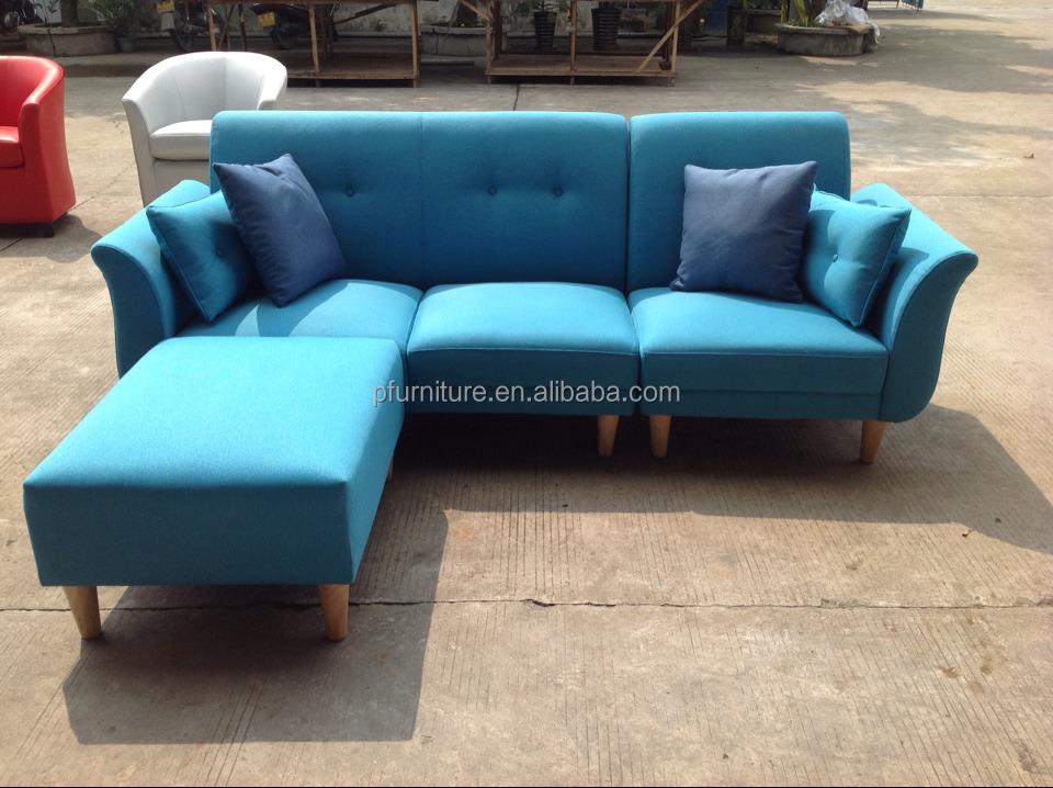 modern leisure l shape fabric sofa set
