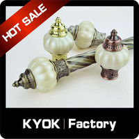 KYOK New design double curtain rod manufacturer construction iron rods 16mm to Building Decoration Engineering