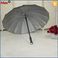 New polyester fabric black led umbrellas with handle light