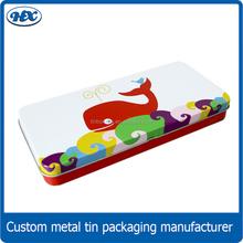 rectangular pencil tin case with princess printing