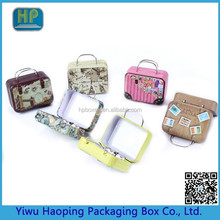 Custom Small Mini Tin Tote /Suitcase With Handle,Classy Gift Tins for key and Coins(Spot online wholesale)