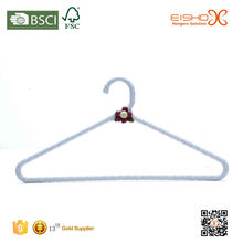 Eisho Simple Design Padded Satin Hanger With A Small Flower