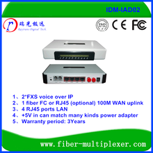AC220V/DC-48V 1FXO 2FXS With RJ45 Port Voip Gateway Router IP PBX
