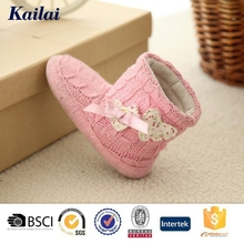export cheap happy crochet baby shoe