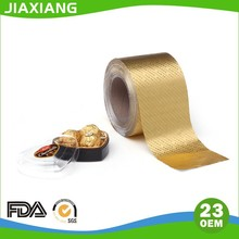 8011 alloy Gold colored Aluminium foil Paper For chocolate Packaging