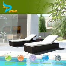 Large Luxury Garden Rattan Sun Lounger / Sunbed / Day Bed