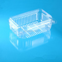 China Supplier Disposable Plastic clamshell grape packing box with hinged lid
