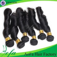 most popular can be dyed and curled brazilian human hair sew in weave