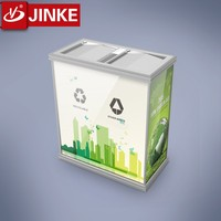 Used Clothing Container Squared Stinless Steel Waste Bin