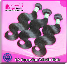 New products 2014 full cuticle Peruvian hair weave pictures for cheap