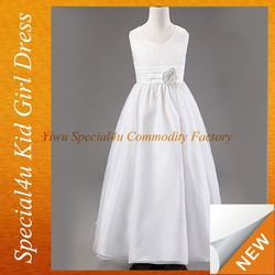Kids girl white long wedding dresses fashion new model frocks dresses SFUBD-1052