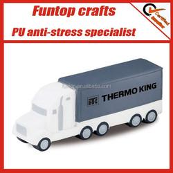 Custom logo give aways customized semi truck stress ball