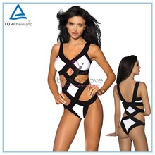 Sexy teddy fetish lingerie contrasting bra top bandage restraints sexy lingerie