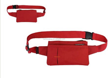2015 BSCI Aduit Hot Sell Outdoor Slim Close Fitting Waist Bag