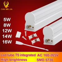 30pcs/lot T5 Led Tube Light 900mm 3ft Integrated 12w White Tubete Epistar Smd 5730 For Home Lighting T5 Led Tube 220v