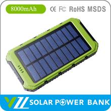 Solar PowerBank 8000 mah For Laptop Go Pro, High Quality Solar Power Bank 8000 mah