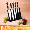 Chinese-style 5 pcs Steel Head Knife Set With Magnetic Holder