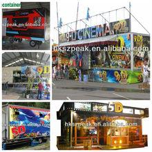 attractive 7D 9D mini mobile truck theater / theatre