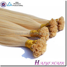 2015 New Factory Wholesale Double Drawn pre bonded hair flat tip hair