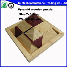 3D puzzle game wood pyramid puzzle