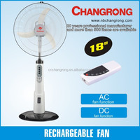 Rechargeable dc/ac operated fan electric motor fans air container
