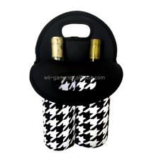 Durable Neoprene 2-Bottle Wine Carrier or Wine Bag - Great Giftable Wine Tote bag!