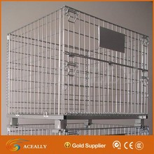 Heavy duty galvanized wire mesh industry used steel storage cage
