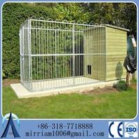 flat roof wood dog kennels