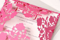 wholesale peach square laser cut wedding invitation cards canton fair 2015