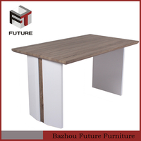 modern dining table with wooden panel exotic wood dining tables