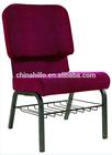 Metal cadeira da igreja com assento macio de fábrica preço de venda( com o fechamento pode link)