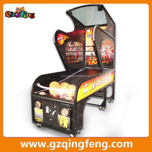 Qingfeng lattest product family folding basketball shooting cheap arcade machines
