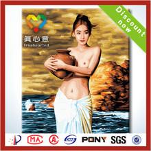 2014 la venta caliente impresión de la lona libre mujeres del sexo foto desnuda pintura al óleo fotos chinos image sobre lienzos