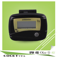 COCET step counter,multifunction digital calories pedometer with CE,ISO,RoHs
