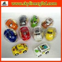 Mini Cute Pull Back Car hand Control Capsule Eggshell Protective friction Car Toys
