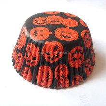 high quality cheap pumpkin halloween paper cupcake liner muffin baking cup cake case for bakery party cake decoration