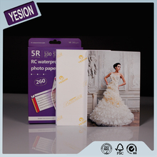 Yesion 2015 Hot Sales! High Quailty RC High Glossy Photo Paper A4 A3 Size Waterproof Inkjet Printing Photo Paper