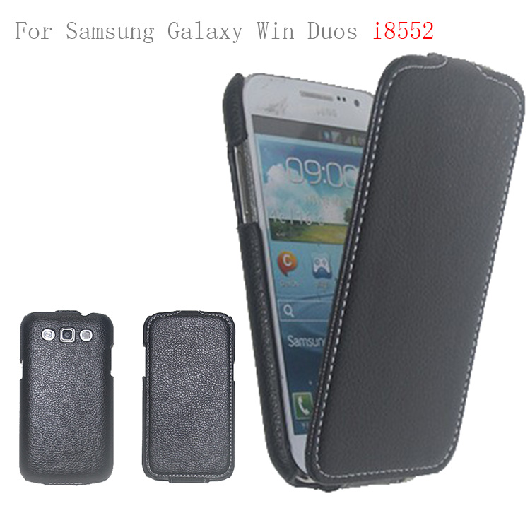 New products 2014 pu leather cheap case for samsung galaxy win duos i8552