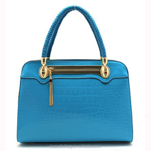 Snake Embossed Patent PU Leather Tote Bag Structured Office Handbag for Women