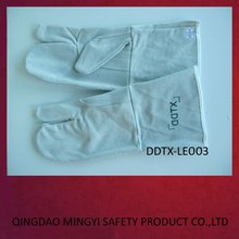 DDTX- LE003 Top class cow split leather working gloves cheap safety gloves