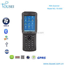 Portable mobile phone with 1d, 2d barcode scanner rfid reader wifi communication devices for windows ce os