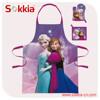 Frozen Princess Design Wholesale from china bbq cotton apron,cooking apron,kitchen apron