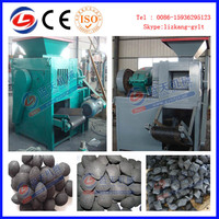 Machine to make charcoal ball briquette and pillow shape briquette